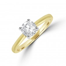 18ct Gold Solitaire ESi1 Diamond Ring