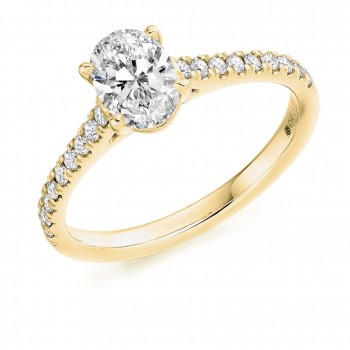 18ct Gold Oval Solitaire Diamond Ring