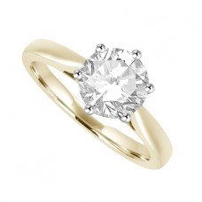 18ct Gold Solitaire DSi2 Diamond Ring