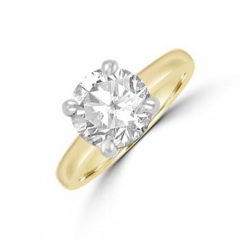 18ct Gold (Platinum) Solitaire JIF Diamond Ring