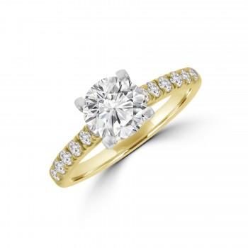 18ct Gold & Platinum Solitaire ESi1 Diamond Ring