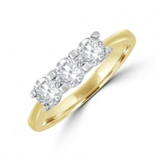 18ct Gold Three-stone Diamond Ring