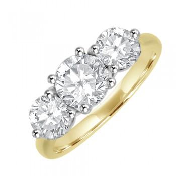 18ct Three-stone GSi2 Diamond Engagement Ring