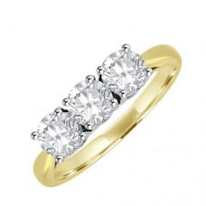 18ct Gold Three-stone Diamond Trilogy Engagement Ring