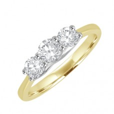 18ct Gold Three-stone Diamond Engagement Ring