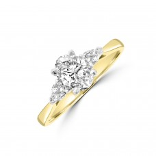 18ct Gold and Platinum Three-stone Oval & Pear Diamond Ring