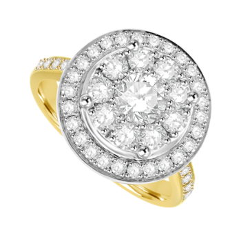 18ct Yellow Gold Diamond Solitaire Mirage Ring
