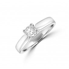 18ct White Gold Solitaire .27ct Diamond Ring
