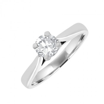 18ct White Gold .40ct Diamond Soltaire Ring