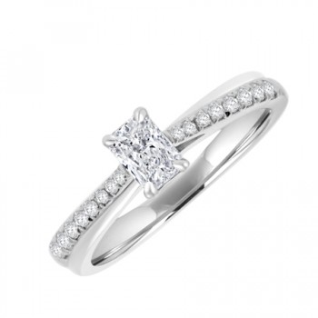 18ct White Gold Solitaire Phoenix DVVS1 Diamond Ring