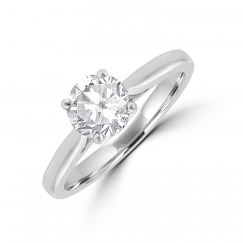 Platinum 1.00ct Diamond Solitaire Ring