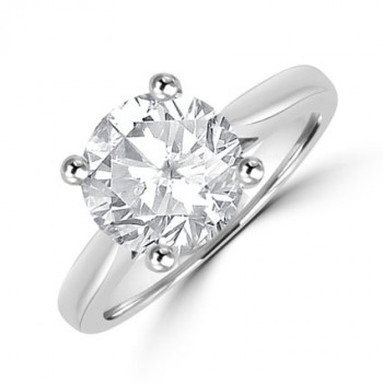 Platinum Solitaire 2.59ct Diamond Ring