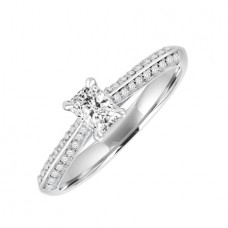 18ct White Gold Solitaire Phoenix DVS1 Diamond ring