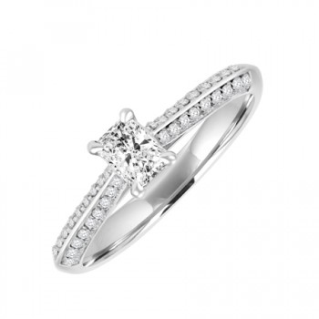 18ct White Gold Solitaire Phoenix DVS1 Diamond ring