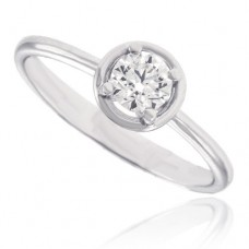 18ct White Solitaire Diamond Bertani Ring