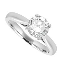 18ct White Gold Solitaire FSi1 Diamond Ring