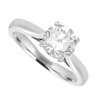 18ct White Gold Solitaire ESi1 Diamond Ring