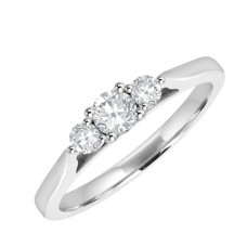 18ct White Gold 3-Stone .25ct Diamond Ring