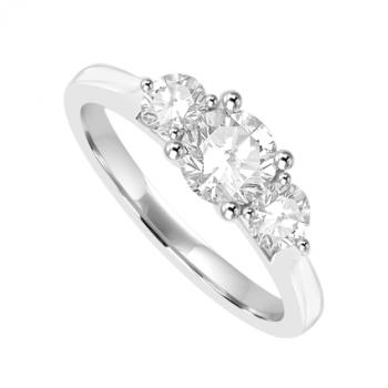 18ct White Gold 3-Stone Diamond Ring