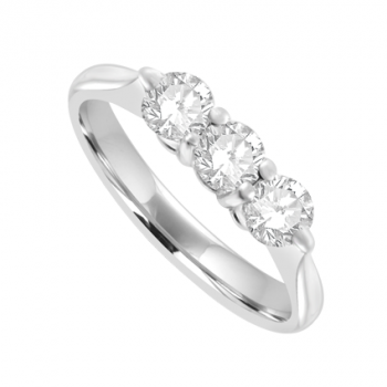 18ct White Gold 3-Stone Diamond Ring