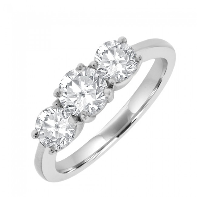 18ct white gold 3 engagement ring