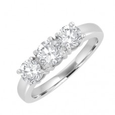 18ct 3 Stone Diamond Ring Trilogy Style