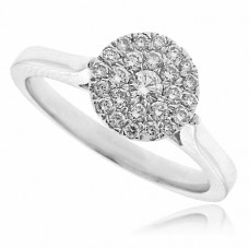 18ct White Gold Solitaire Iluusion Diamond Ring