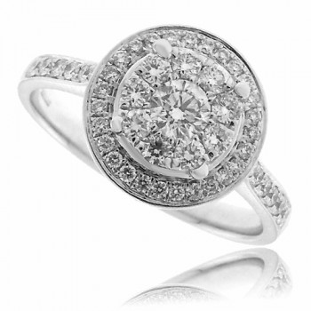 18ct White Gold Diamond Mirage Ring