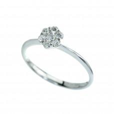 18ct White Gold 7-stone Diamond Cluster Ring