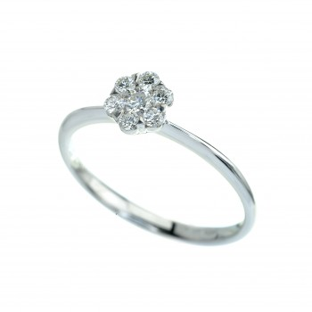 18ct White Gold 7-stone Diamond Cluster Ring