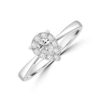 18ct White Gold Cluster Ring