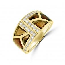 18ct Gold Pink Tourmaline & Diamond  Dress Ring