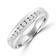Platinum Diamond Channel Eternity/Wedding Ring