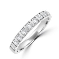 Platinum 9-stone Diamond Eternity Ring