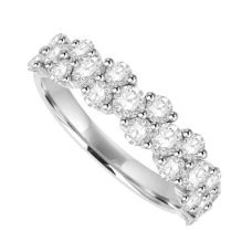 Platinum 20 Diamond 2x1 Eternity Ring