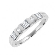 Platinum Baguette & Brilliant Diamond Eternity Ring