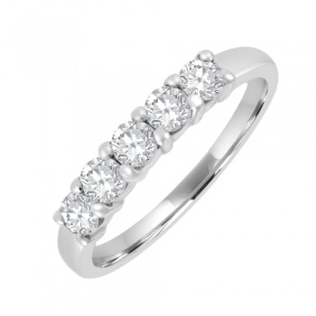Platinum 5 Stone Diamond Eternity Ring