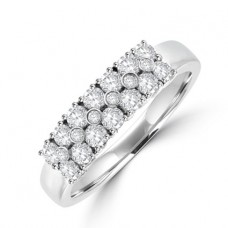 Platinum Diamond 3-row Diamond Eternity Ring