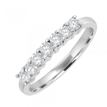 Platinum 7stone Diamond Eternity Ring