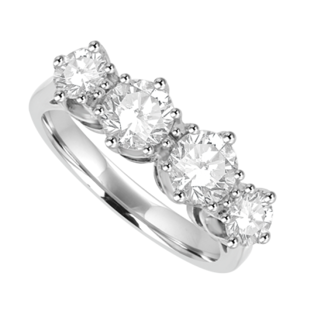 Platinum 4 Stone Diamond Eternity Ring