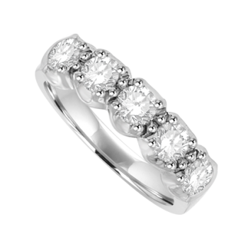 Platinum 5-Stone Diamond Eternity Ring