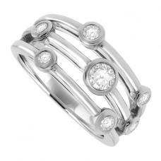 Platinum 6-Stone Diamond Bubble Eternity Ring