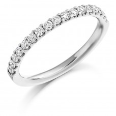 Platinum .33ct Diamond Eternity Ring