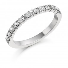 Platinum 12-stone Diamond Eternity Ring
