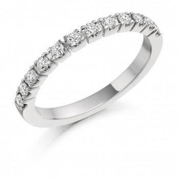 Platinum 12-stone Diamond Eternity Ring