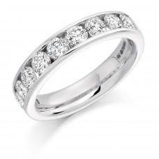 Platinum 9-stone 1.50ct Diamond Wedding/Eternity Ring