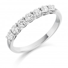 Platinum 7-Stone Diamond Eternity Ring