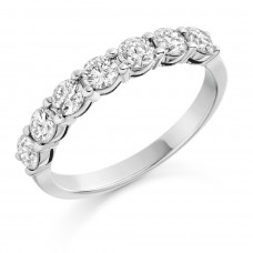 Platinum seven-stone Diamond Eternity Ring