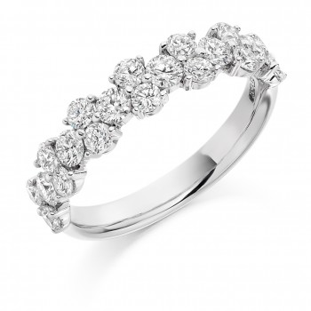 Platinum 20-Stone Diamond Eternity Ring