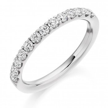 Platinum 13-stone Diamond Eternity Ring
